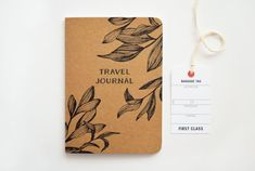 A travel must-have, this handmade journal packs in everything youll need to look back on a great trip. The journal features hand illustrated