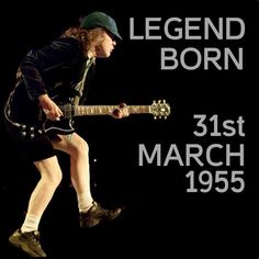 AC/DC.  Of course Angus is an Aries ! And I was born on the same day as him that is so cool !!