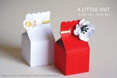 A Little Hut - Patricia Zapata: day 4 - slide lock favor boxes
