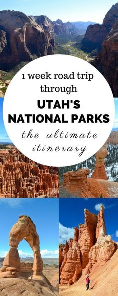 A road trip through the Utah National Parks is one you'll always remember. From the towering hoodoos + the sandstone arches, you'll be constantly amazed! https://apassionandapassport.com/2016/05/utah-national-parks-one-week/?utm_campaign=coschedule&utm_source=pinterest&utm_medium=The%20Full-Time%20Tourist
