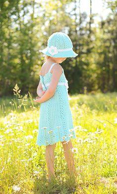 Chloe vestido Crochet patrones  tallas 2T  chicas talla 9/10