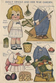76.2077: Dolly Dingle and Her War Garden | paper doll | Paper Dolls | Dolls | Online Collections | The Strong