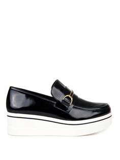 Binx faux-leather platform loafers | Stella McCartney | MATCHE...