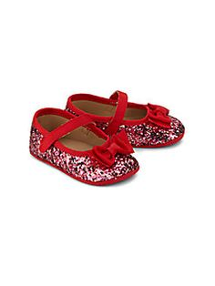 Kate Spade New York - Baby's Glitter Mary Jane Flats