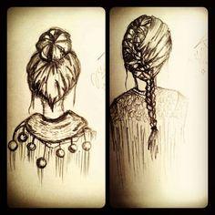 Bun head and braids