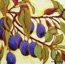 Nine Plums...  Original: sold  Acrylic 12 x 12  Reproduction: $95.00      14 x 14