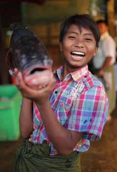 Big catch . Myanmar