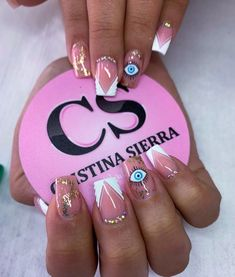 White Nail Art, White Nails, Pedicure Tradicional, Summer Acrylic Nails, Dope Nails, Manicure, Instagram, Makeup, Sierra