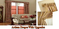 Handcrafted Graber Artisan Drapes: a beautiful masterpiece - http://www.zebrablinds.com/blog/handcrafted-graber-artisan-drapes-a-beautiful-masterpiece/ #DraperyPanels, #Drapes, #Curtains, #RomanBlinds, #ArtisanRomanShades