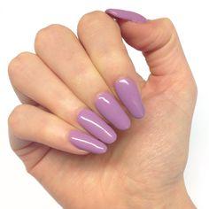 Mauve Purple Dusky Violet Nails