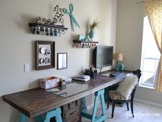 turn room into craft work space in closet - Google Search