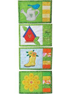 Spring Mug Rugs Pattern