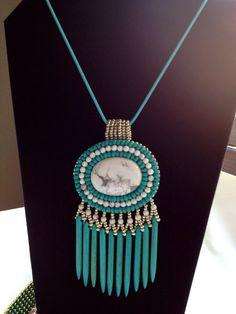 Turquoise Howlite Southwest Necklace on Etsy, $85.00