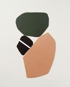 green, peach and black | color scheme