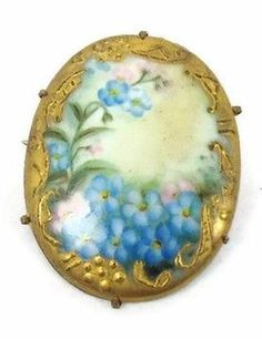 forget me nots on a brooch very similar to one my Grandmother had