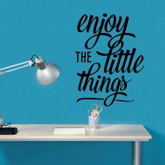 Enjoy the little things - Textos e Citações - Decoração em vinil Autocolante decorativo