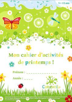 Cahier d'activités à imprimer pour les jeunes élèves du primaire