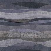blue-grey rolling waves hills custom fabric by wren_leyland for sale on Spoonflower Landscape Fabric, Abstract Landscape, Wave Hill, Ocean Waves, Custom Fabric, Spoonflower, Blue Grey, Digital Prints, Wren