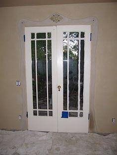 cob/lime plaster details around a door