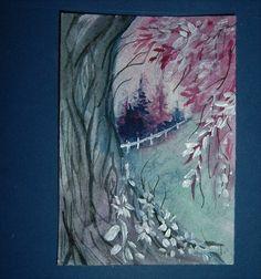 aceo art painting watercolour landscape (ref 936) £5.00