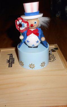 Steinbach Musical Uncle Sam Music Box American Patriotic America  #Steinbach