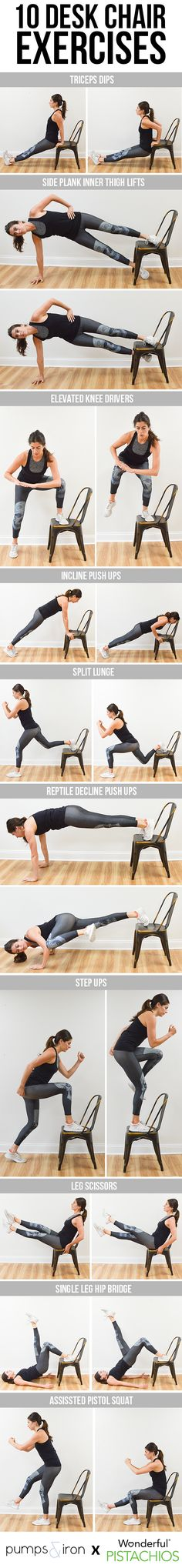 10 Exercises You Can Do with a Desk Chair | Pumps & Iron