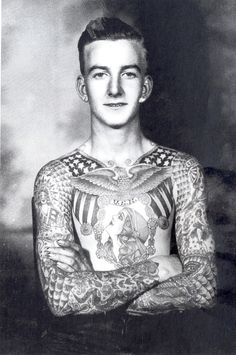 Full torso tattoo by Bert Grimm #american #traditinal #tattoos