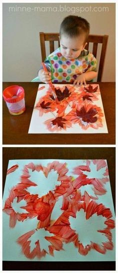 Fall Crafts for Kids - Fall Leaf PaintingYou can find Herbst basteln mit kindern and more on our website.Fall Crafts for Kids - Fall Leaf Painting Fall Crafts For Kids, Crafts To Do, Holiday Crafts, Art For Kids, Kids Diy, Children Crafts, Crafty Kids, Fall Crafts For Preschoolers, Autumn Art Ideas For Kids