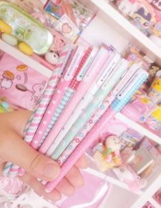 Kawaii Pattern Gel Ink Pens in picture by ig Find them at Kawaii Pen Shop Japanese Stationery Store, Kawaii Pens, Pen Shop, Gel Ink Pens, Bullet Journal, Kawaii Stationery, Pencil Bags, School Supplies, Lady