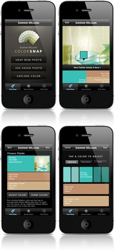Stay up to date with daily web design news: http://www.fb.com/mizkowebdesign Sherwin-Williams ColorSnap v2 iPhone & Blackberry App on the Behance Network #webdesign #design #designer #inspiration #user #interface #ui #web
