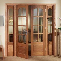 Image of Norbury Oak PH6DPO Room Divider - Demi Side Panels & Glass