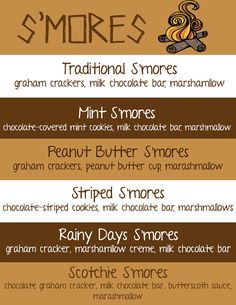 Smores  Download Flyer  Want to add s'more fun in your life? Make s'more…