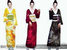 Female japanese kimono for Sims 4 #asian