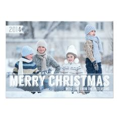 Bold Modern Merry Christmas Big Photo Card Personalized Invite card, customise with your own photo Personalized Greeting Cards, Personalised Christmas Cards, Christmas Photo Cards, Christmas Photos, Christmas Holiday, Christmas Ideas, Holiday Messages, Holiday Cards, Christmas Typography