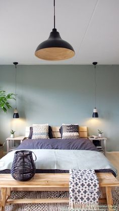 Pin by Jacobine * on House inspiration in 2018 - # house # inspiration # Yes . Pin by Jacobine * on House inspiration in 2018 – Bedroom Green, Master Bedroom, Ocean Bedroom, Blue Bedrooms, Bedroom Simple, Bedroom Modern, Bedroom Bed, Home Decor Bedroom, Interior Design Living Room