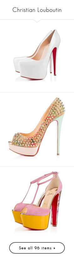 """Christian Louboutin"" by alyssa23 ❤ liked on Polyvore featuring shoes, pumps, evening shoes, high heel shoes, special occasion shoes, peep toe shoes, peep toe platform pumps, heels, christian louboutin and sapatos"