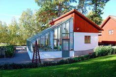 Arkitektritat orangeri på Stabergs bergsmansgård