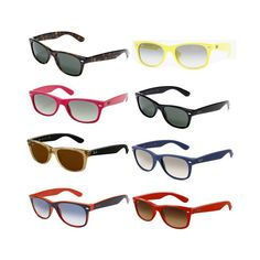Ray-Ban RB2132 Wayfarer Sunglasses in different colors on Amazon.com