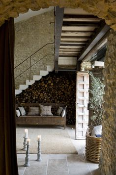 This beautiful Mas-a country house or farm in the South of France, usually made of stone. Located in Uzès, right in the heart of the Provence. The house is Modern Country Style, French Country House, Rustic Style, Modern Rustic, Country Decor, French Farmhouse, Rustic French, Rustic Charm, Architecture Renovation