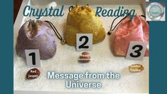 Pick a Crystal 💎Your Message from the Universe - Divine Crystal Guidance... Your Message, Intuition, Universe, Messages, Crystals, Reading, Cosmos, Crystal