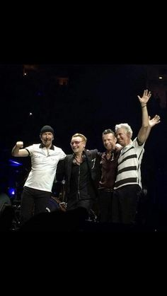 The final bow of the night...or is it?  At the #U2ietour Chicago 5, July 1, 2015 this brought down the house.  And, after all of these years, we were still able to surprise the band with our electrifying standing ovation.  It's a night I'll never forget.  Illinoisans know how to show their enthusiasm!