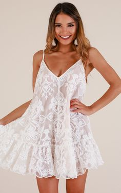 Trending Lush Strappy Women Mini Dress In White Lace Simple Homecoming Dresses, Hoco Dresses, Sexy Dresses, Cute Dresses, Casual Dresses, Summer Dresses, Sparkly Dresses, Cheap Dresses, Formal Dresses