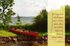Ich liege und schlafe ganz mit Frieden; ... Psalm 4, 9