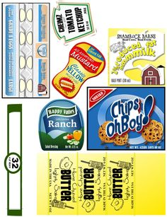 free download of kiddie food play labels - The Sew*er, The Caker, The CopyCat Maker: Wooden Play Food