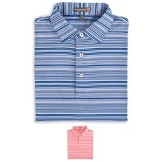 Javelin Stripe Stretch Jersey Polo #beauoutfitters #shoponline #petermillar #polo