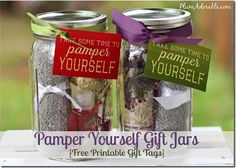 Pamper Yourself Gifts in a Jar! via The Frugal Girls