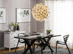 Moderni valkoinen kattovalaisin - MARONNE XL_615474 Beliani, Decor, Discount Furniture, Table, Lamp, Furniture, Home Decor, Dining, Dining Table