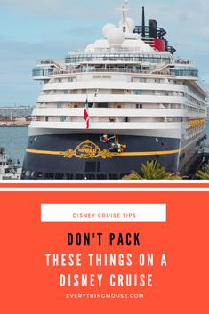 Disney Cruise tips often tell you what to pack and give you advice about packing. What people don't know is that there are certain things which are prohibited on Disney Cruises. This is why you need to know not to pack these things on a Disney Cruise. #DisneyCruise #DisneyCruiseTips #DisneyCruisePacking #Cruise