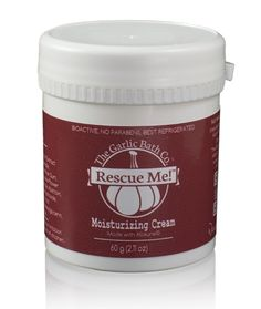 Rescue Me! - Moisturizing Cream A natural blend of stabilized allicin liquid (a natural antimicrobial) and all natural ingredients. This ALL NATURAL cream is great for large or small areas.  HOW TO USE: Use Rescue Me!™ Moisturizing Cream externally as often as desired. Massage gently into skin. It may also be added to a dressing or bandage.
