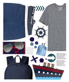"""Captain Seashell"" by seashellvibes ❤ liked on Polyvore featuring Hurley, Incotex, Ray-Ban, Dolce&Gabbana, Herschel Supply Co., Sperry, Kate Spade, men's fashion, menswear and summermenswearessentials"